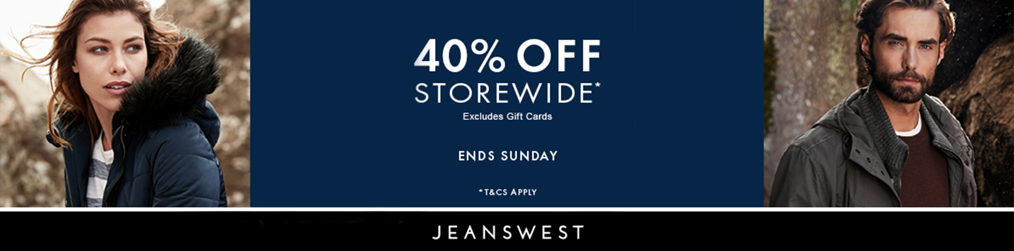 Jeans West 40% off